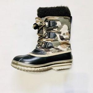 Sorel Kids Camo Yoot Pac Nylon Winter Snow Boots